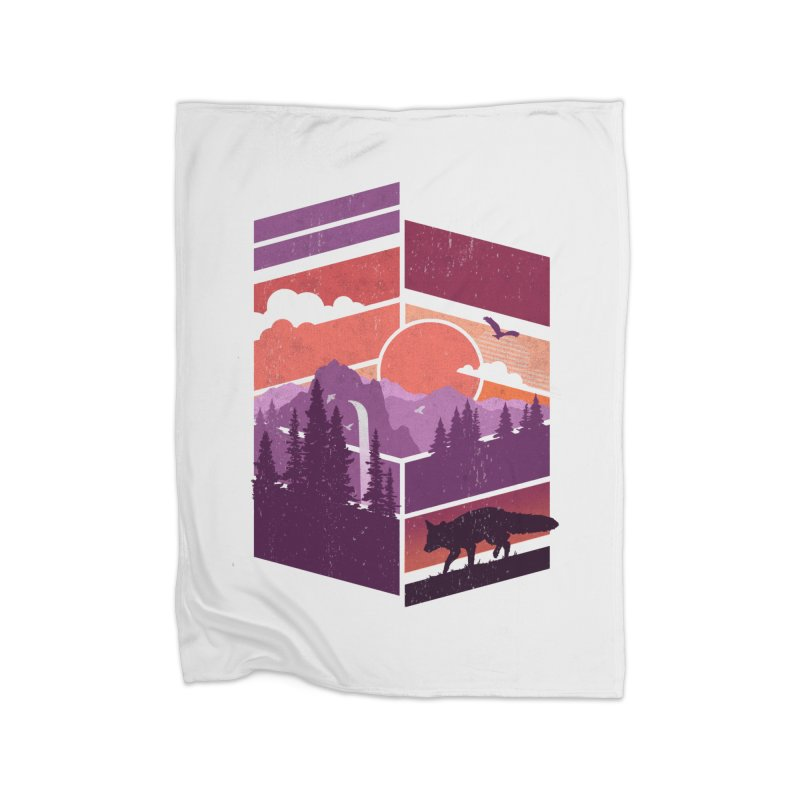 Vanishing Point Home Blanket by The Child's Artist Shop