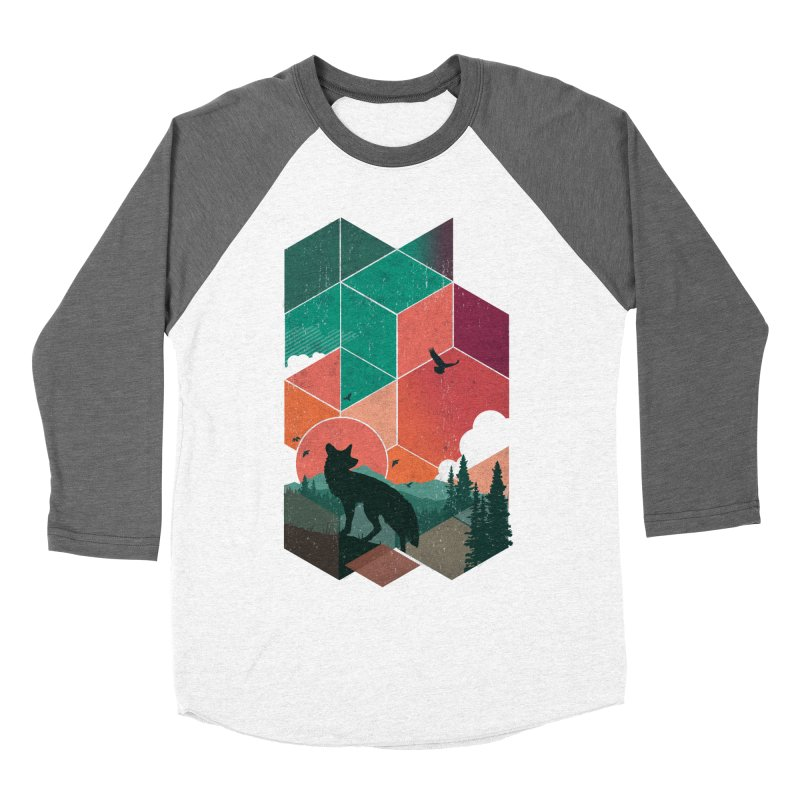 Natural Habitat Men's Baseball Triblend T-Shirt by The Child's Artist Shop
