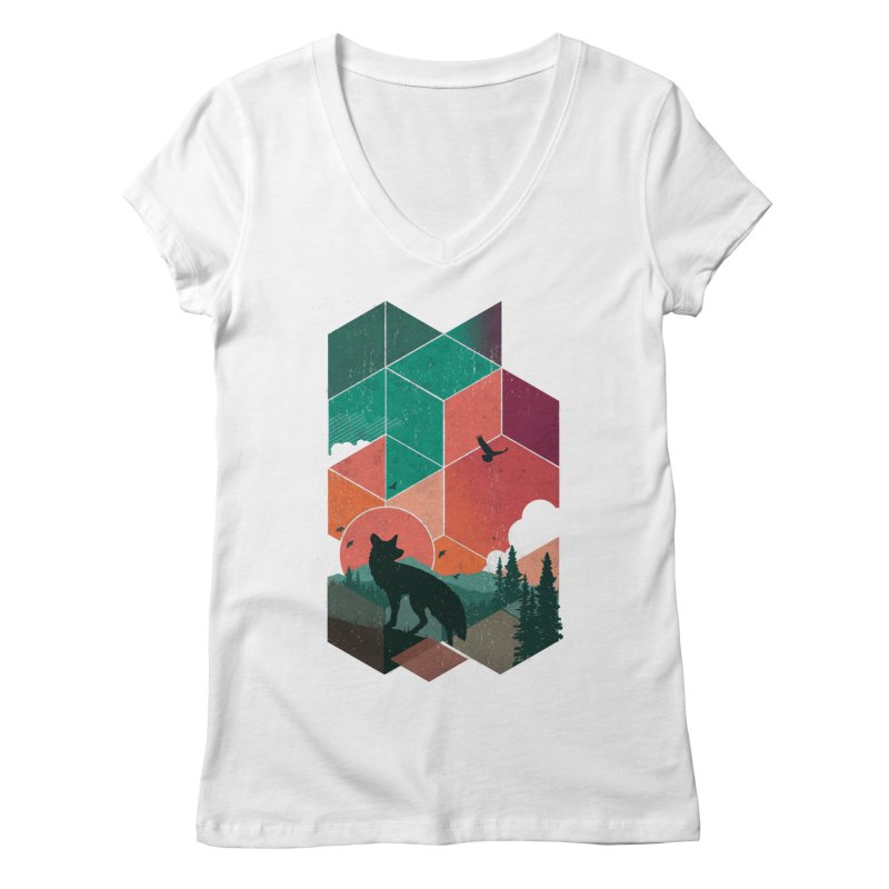 Natural Habitat Women's V-Neck by The Child's Artist Shop