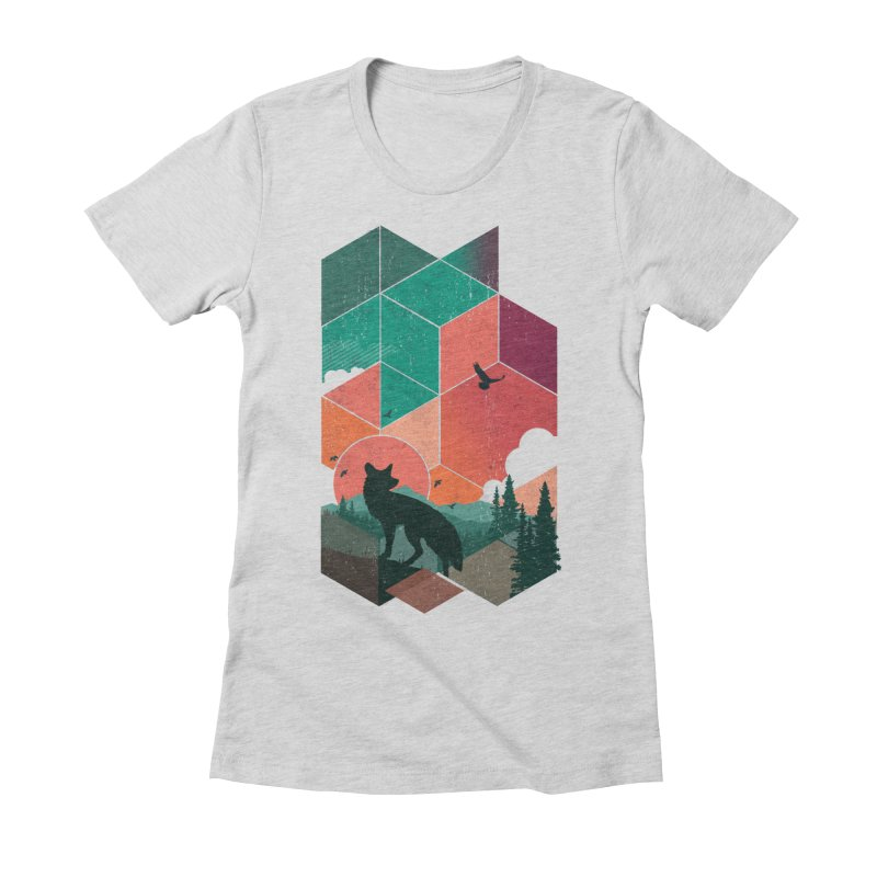 Natural Habitat Women's Fitted T-Shirt by The Child's Artist Shop