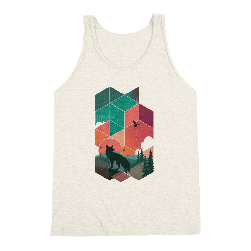 Natural Habitat Men's Triblend Tank by The Child's Artist Shop
