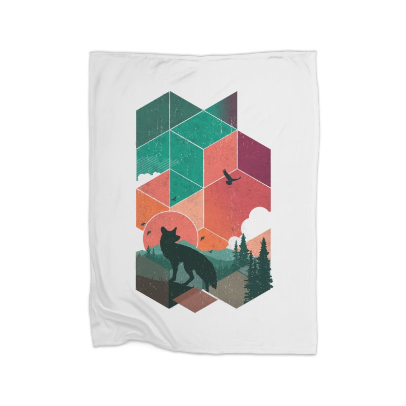 Natural Habitat Home Blanket by The Child's Artist Shop