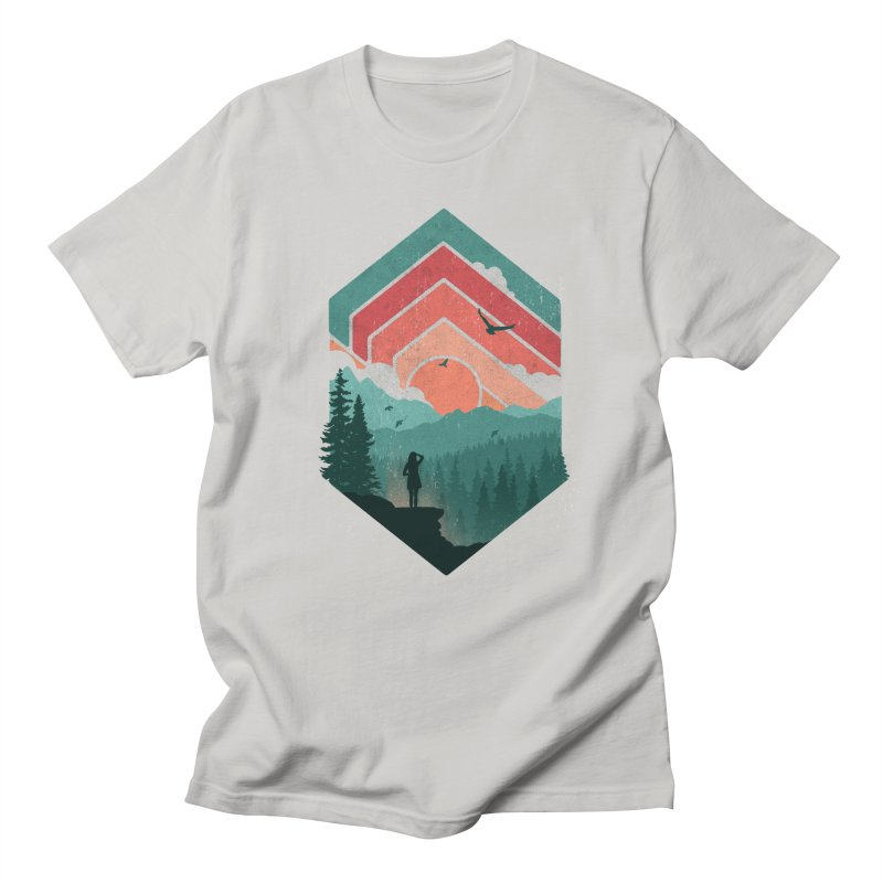 Divided Sky Men's T-Shirt by The Child's Artist Shop
