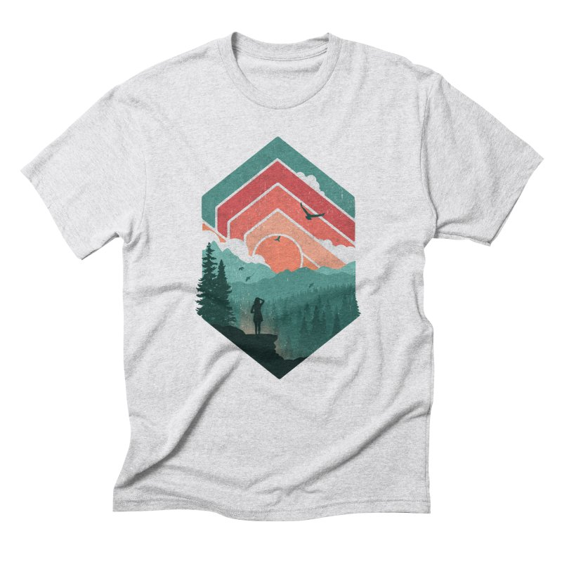 Divided Sky Men's Triblend T-Shirt by The Child's Artist Shop