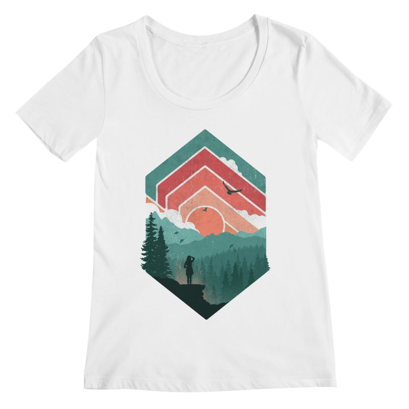 Divided Sky Women's Scoopneck by The Child's Artist Shop