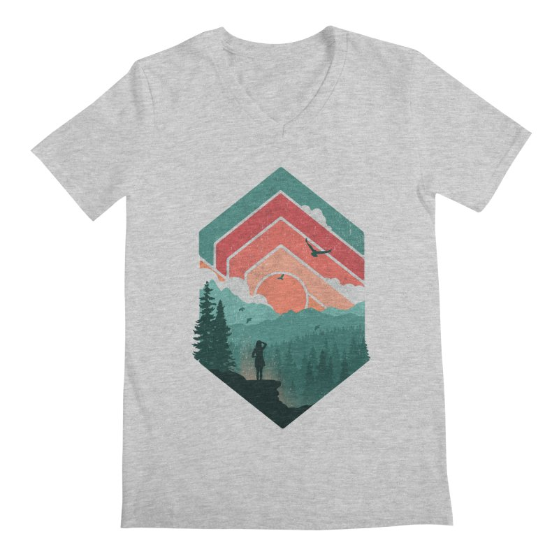 Divided Sky Men's V-Neck by The Child's Artist Shop