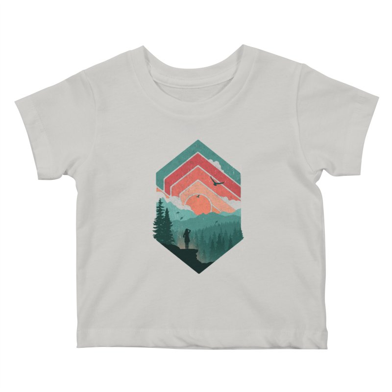 Divided Sky Kids Baby T-Shirt by The Child's Artist Shop
