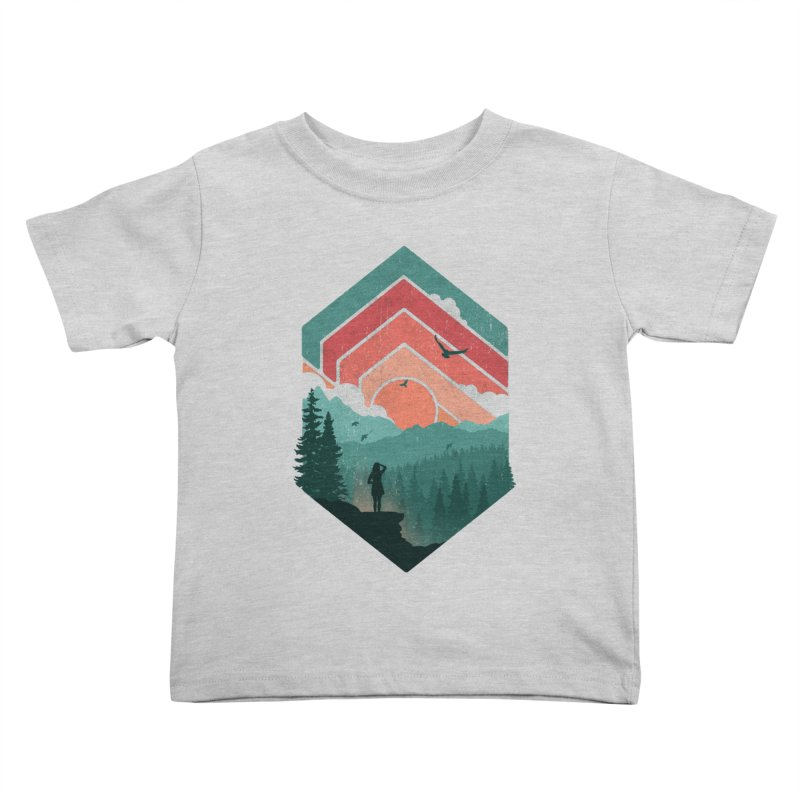 Divided Sky Kids Toddler T-Shirt by The Child's Artist Shop
