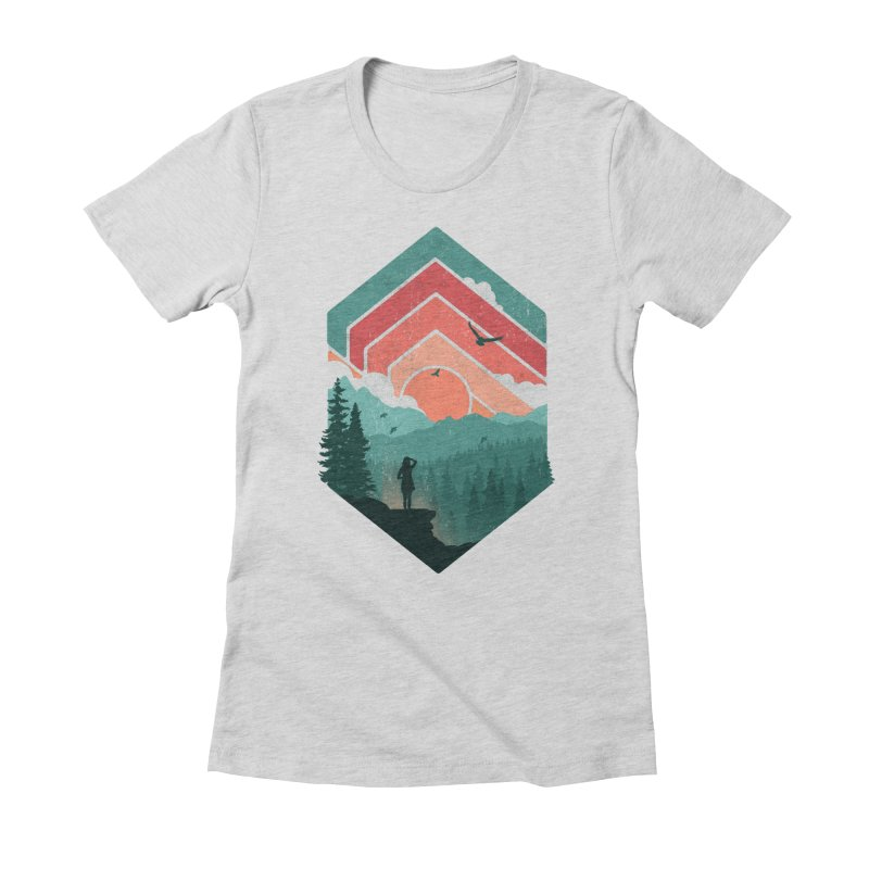 Divided Sky Women's Fitted T-Shirt by The Child's Artist Shop