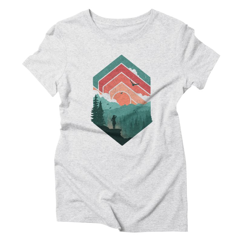 Divided Sky Women's Triblend T-Shirt by The Child's Artist Shop