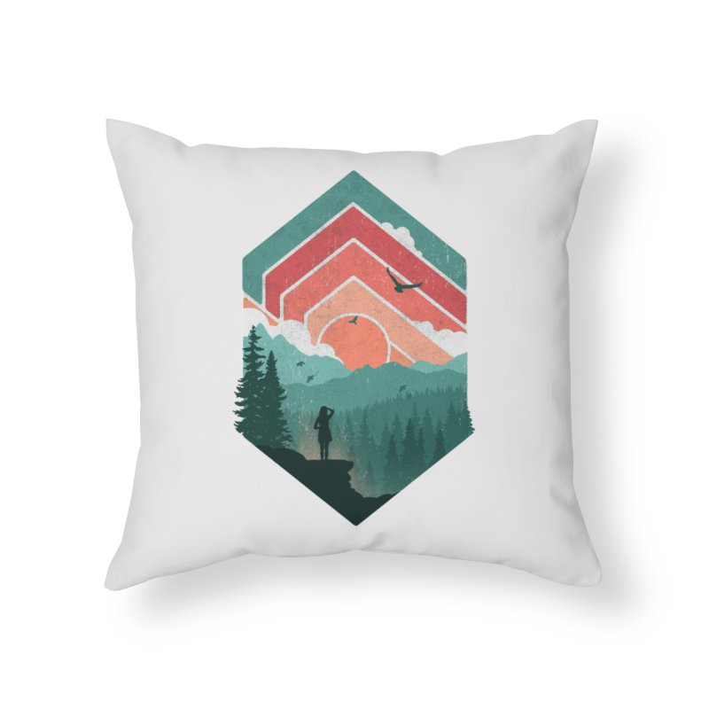 Divided Sky Home Throw Pillow by The Child's Artist Shop