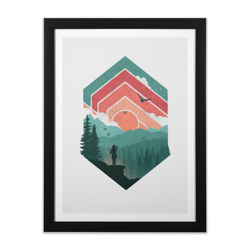 Divided Sky Home Framed Fine Art Print by The Child's Artist Shop