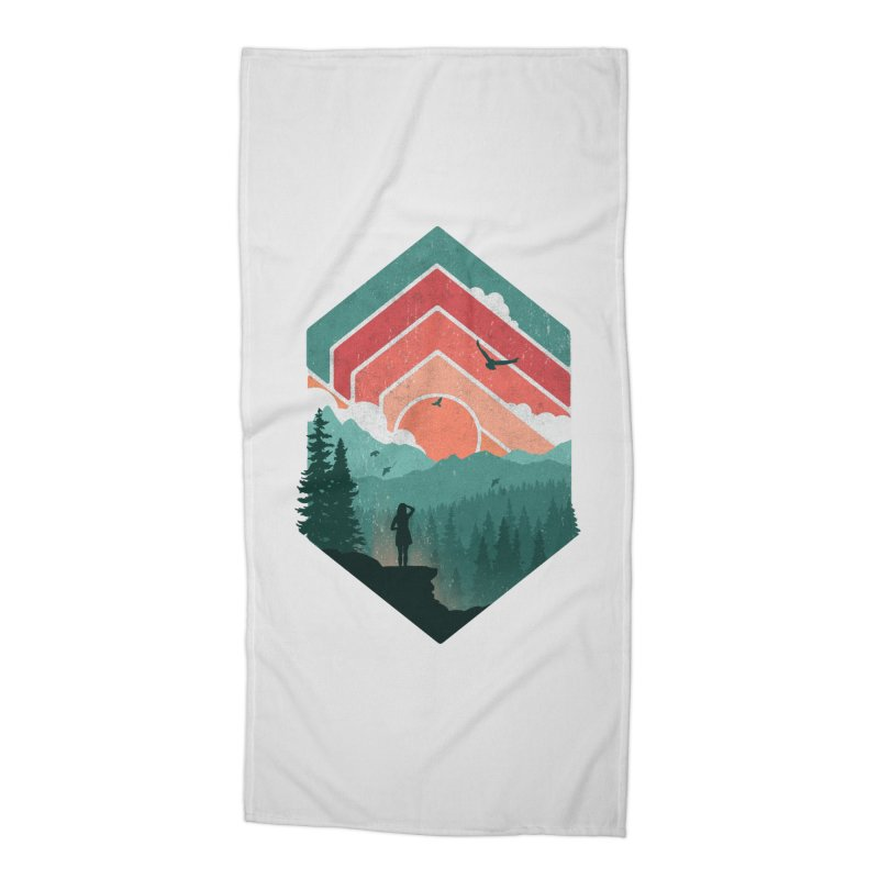 Divided Sky Accessories Beach Towel by The Child's Artist Shop