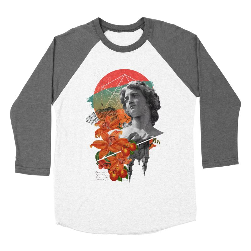 Forbidden Fruit Men's Baseball Triblend T-Shirt by The Child's Artist Shop