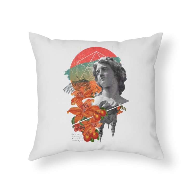 Forbidden Fruit Home Throw Pillow by The Child's Artist Shop