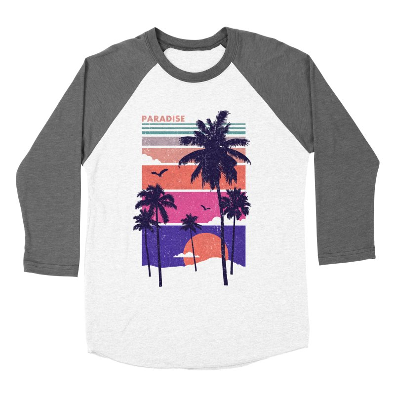 Paradise Men's Baseball Triblend T-Shirt by The Child's Artist Shop