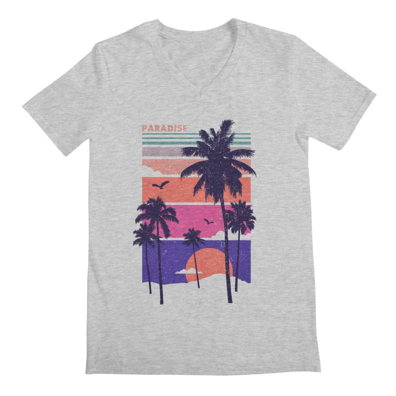 Paradise Men's V-Neck by The Child's Artist Shop