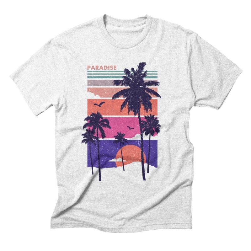 Paradise Men's Triblend T-shirt by The Child's Artist Shop