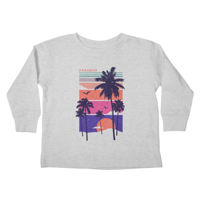 Paradise Kids Toddler Longsleeve T-Shirt by The Child's Artist Shop