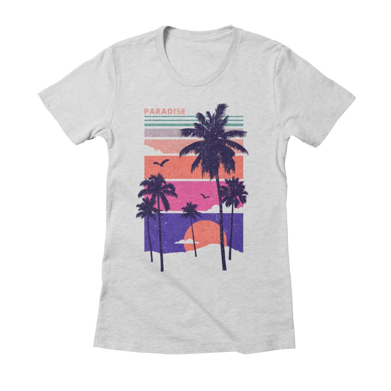 Paradise Women's Fitted T-Shirt by The Child's Artist Shop