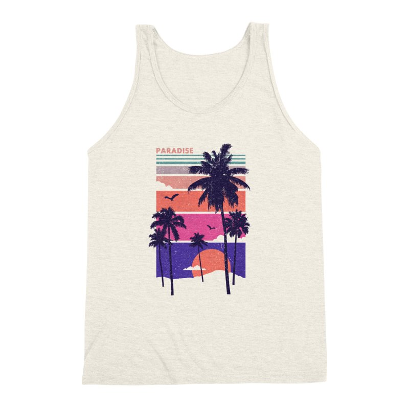 Paradise Men's Triblend Tank by The Child's Artist Shop