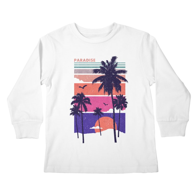Paradise Kids Longsleeve T-Shirt by The Child's Artist Shop