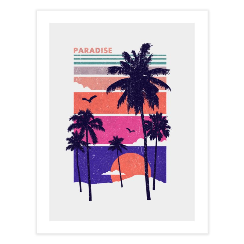 Paradise Home Fine Art Print by The Child's Artist Shop