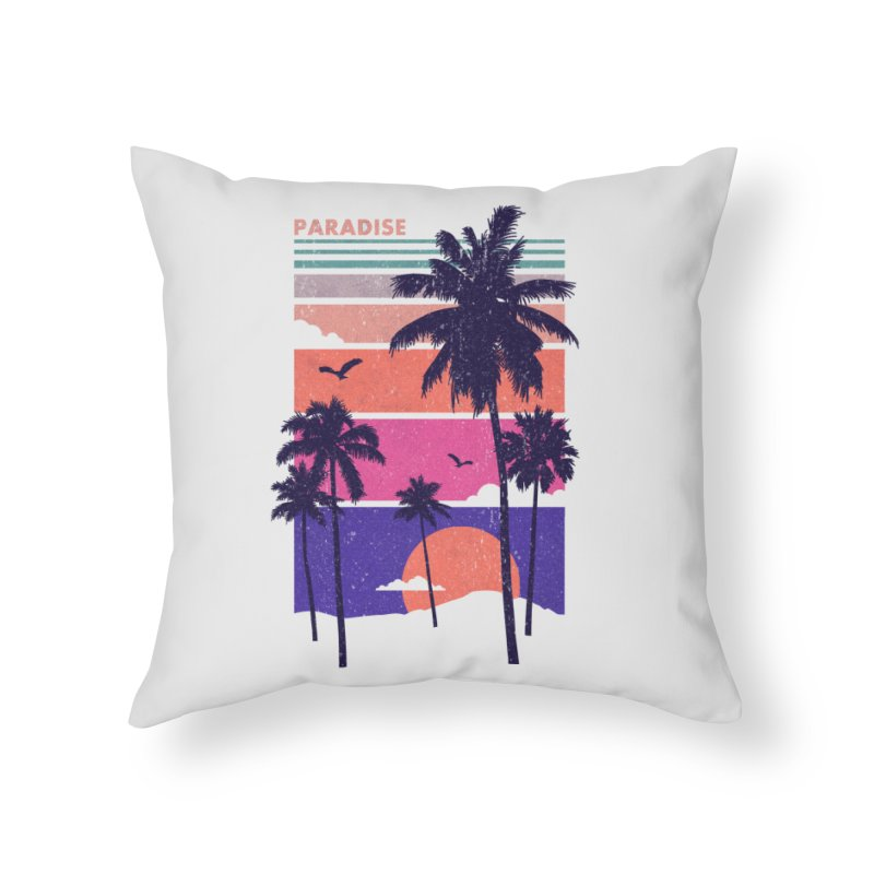 Paradise Home Throw Pillow by The Child's Artist Shop