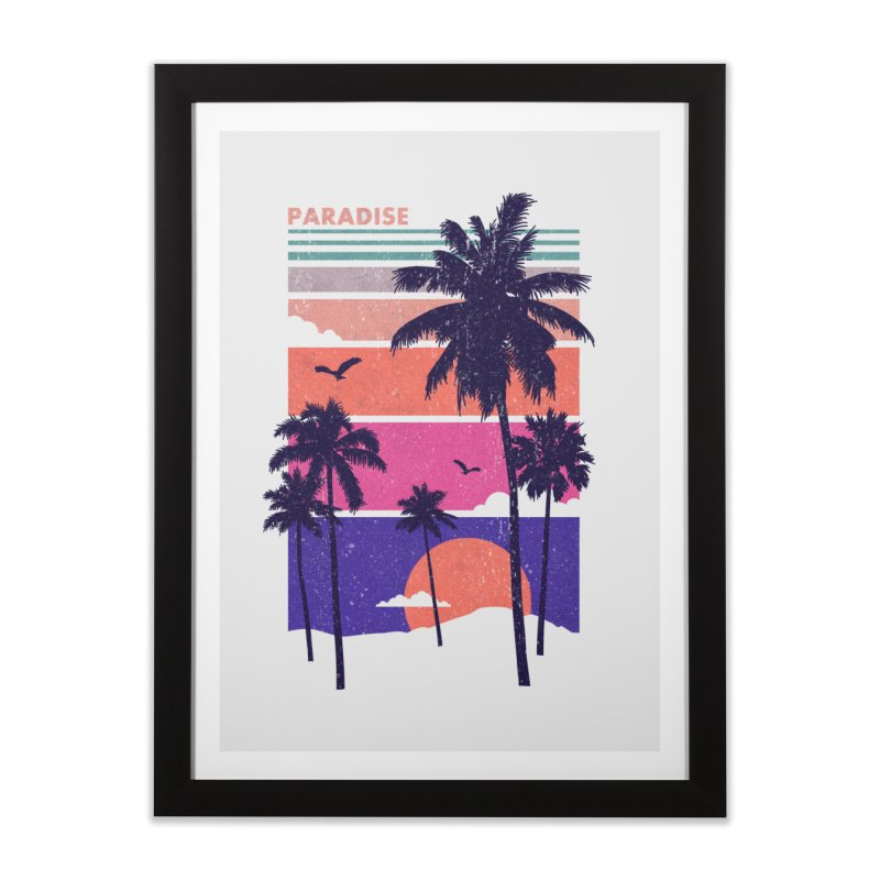Paradise Home Framed Fine Art Print by The Child's Artist Shop