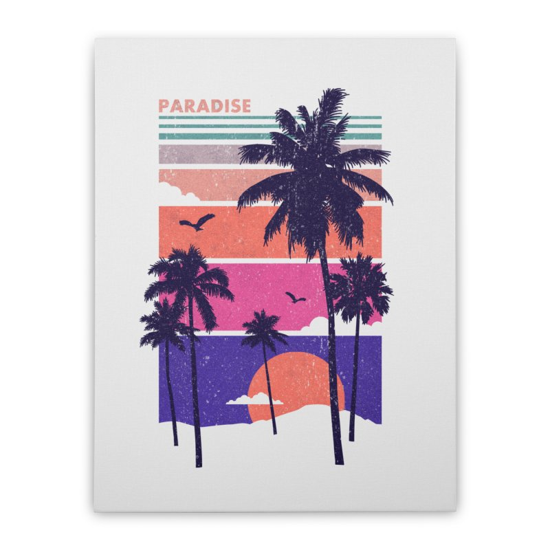 Paradise Home Stretched Canvas by The Child's Artist Shop