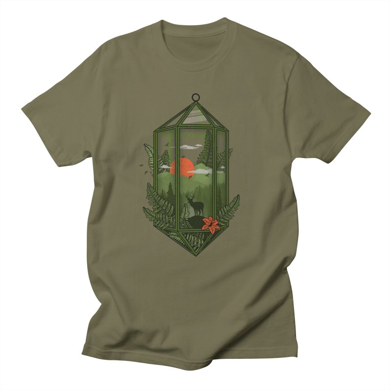 Terrarium Men's T-Shirt by The Child's Artist Shop