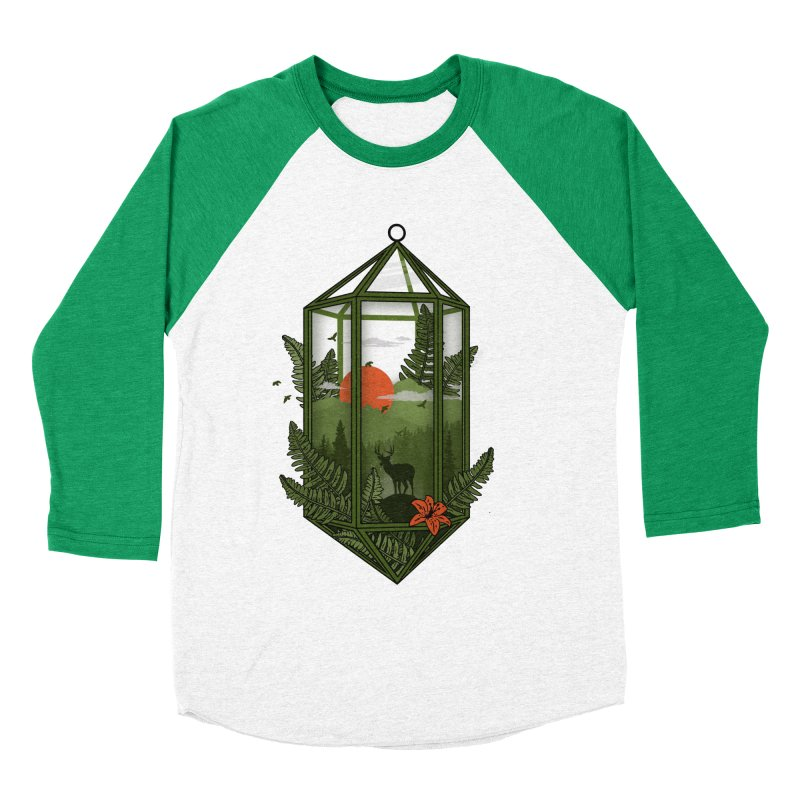 Terrarium Men's Baseball Triblend T-Shirt by The Child's Artist Shop
