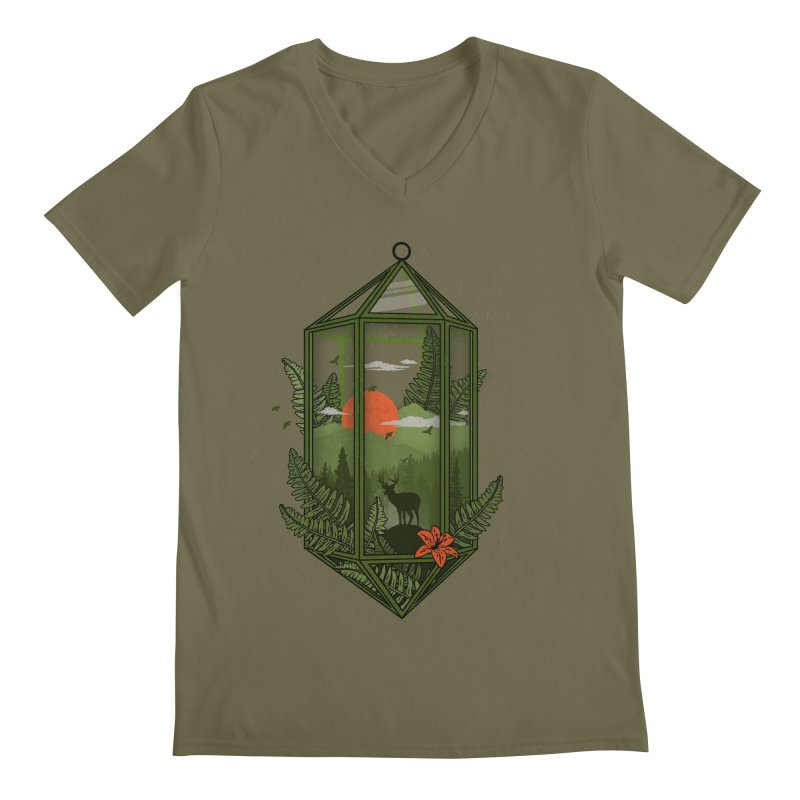 Terrarium Men's V-Neck by The Child's Artist Shop