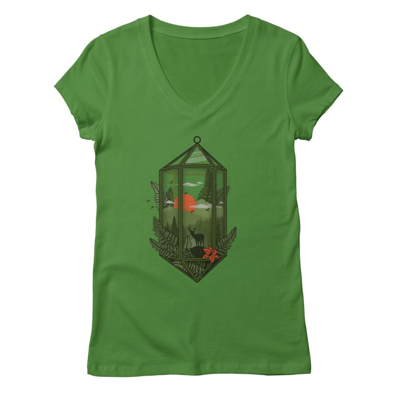 Terrarium Women's V-Neck by The Child's Artist Shop