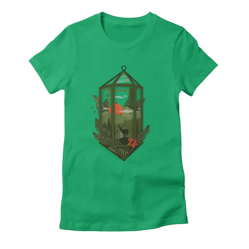 Terrarium Women's Fitted T-Shirt by The Child's Artist Shop