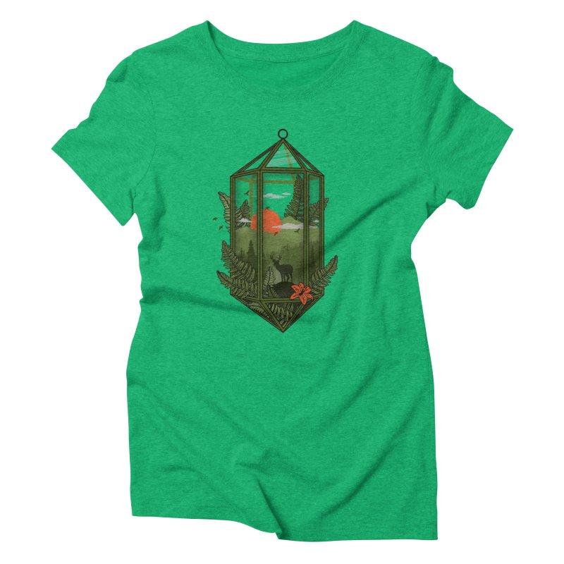 Terrarium Women's Triblend T-Shirt by The Child's Artist Shop