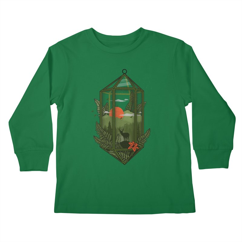 Terrarium Kids Longsleeve T-Shirt by The Child's Artist Shop