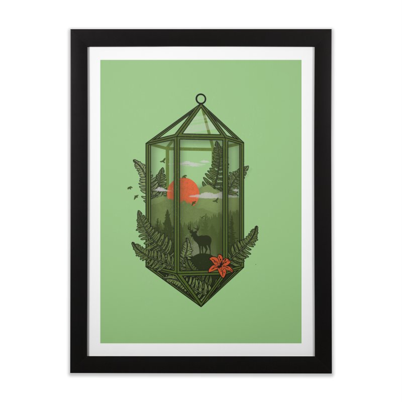 Terrarium Home Framed Fine Art Print by The Child's Artist Shop