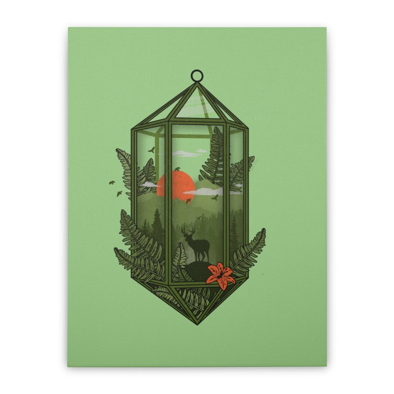 Terrarium Home Stretched Canvas by The Child's Artist Shop