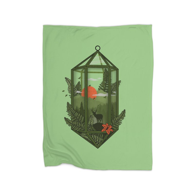 Terrarium Home Blanket by The Child's Artist Shop