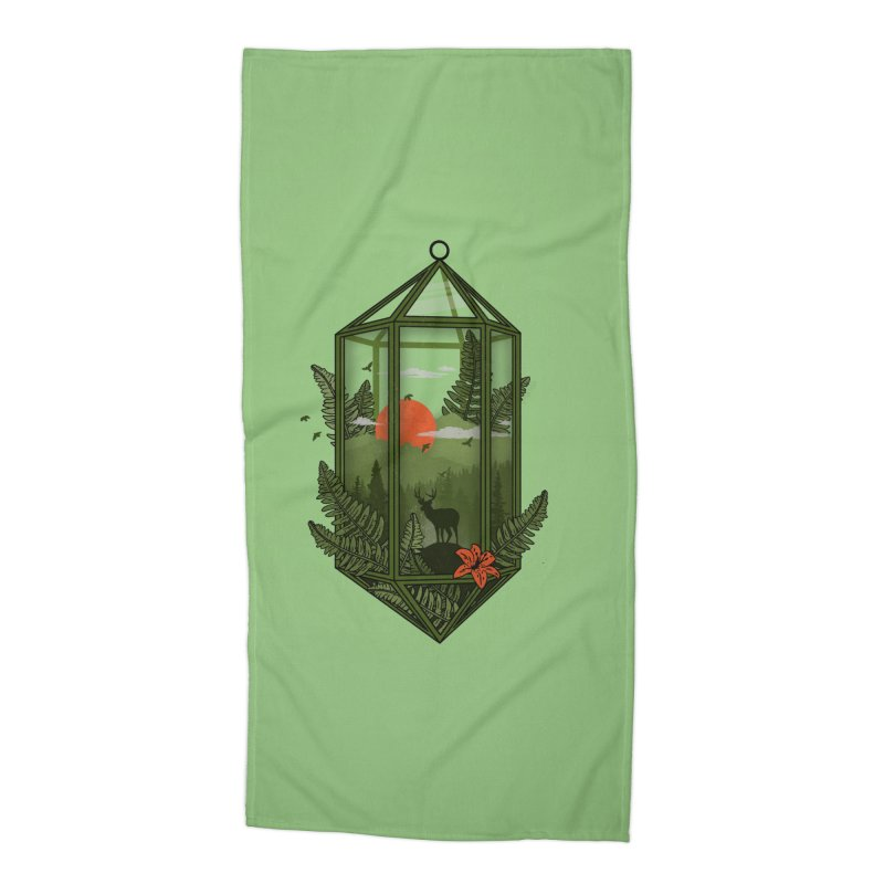 Terrarium Accessories Beach Towel by The Child's Artist Shop
