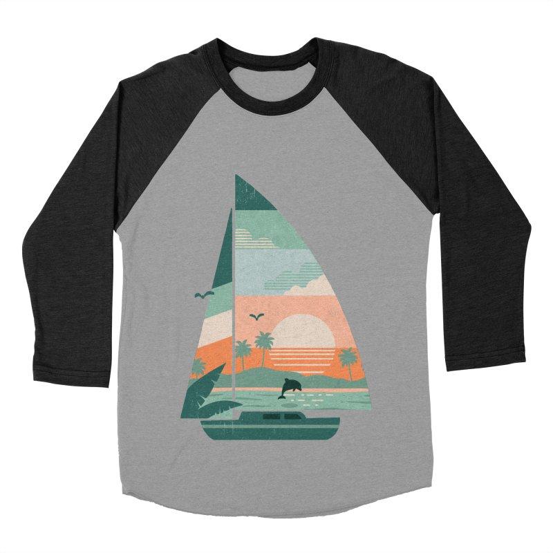 Set Sail Women's Baseball Triblend Longsleeve T-Shirt by The Child's Artist Shop
