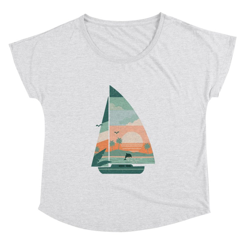 Set Sail Women's Dolman Scoop Neck by The Child's Artist Shop