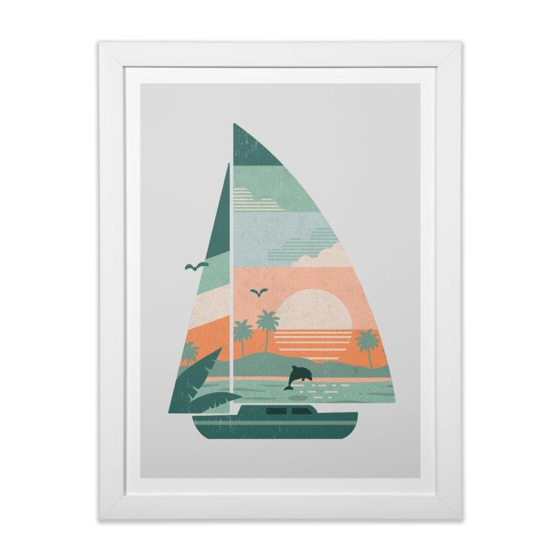 Set Sail Home Framed Fine Art Print by The Child's Artist Shop