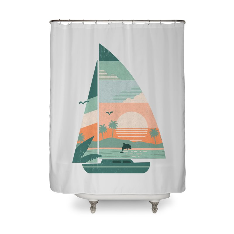 Set Sail Home Shower Curtain by The Child's Artist Shop