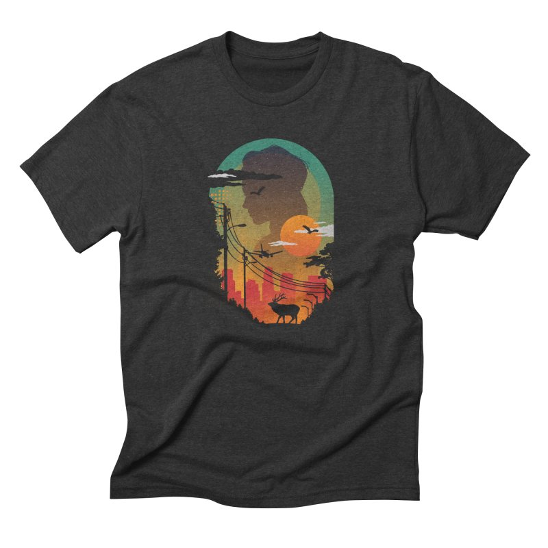 Transitions Men's Triblend T-shirt by The Child's Artist Shop