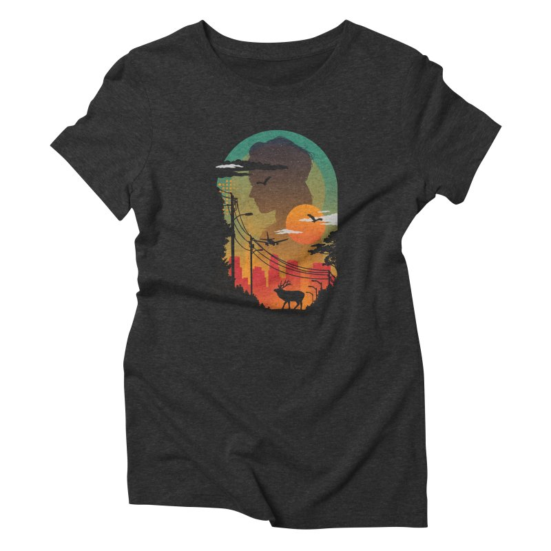 Transitions Women's Triblend T-Shirt by The Child's Artist Shop