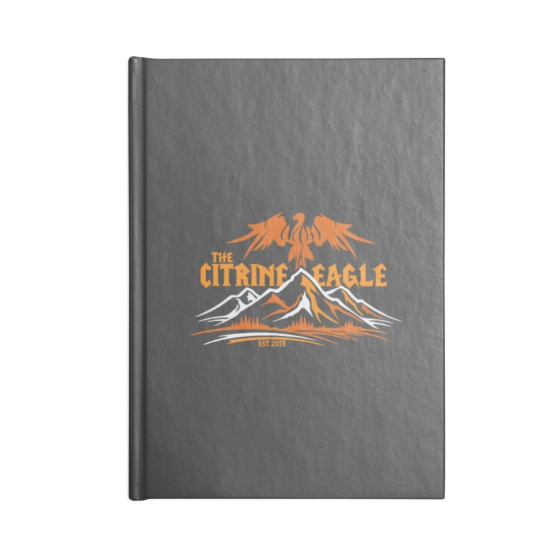 The Citrine Eagle - Mountain Collection I in Lined Journal Notebook by The Citrine Eagle Shop