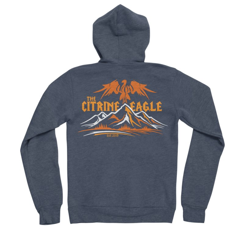 The Citrine Eagle - Mountain Collection I Men's Sponge Fleece Zip-Up Hoody by The Citrine Eagle Shop