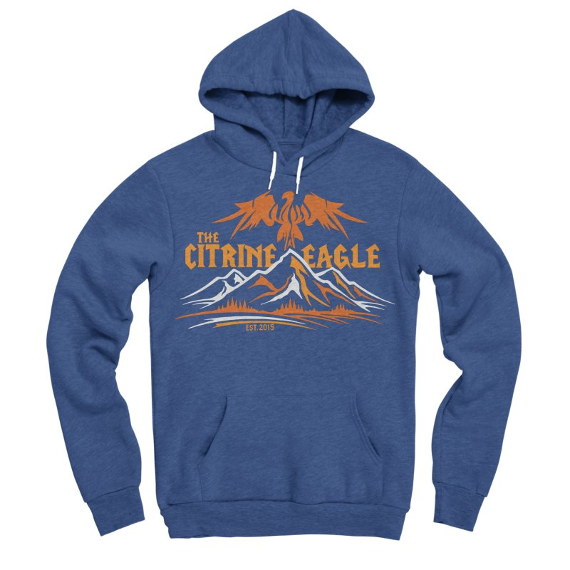 The Citrine Eagle - Mountain Collection I Men's Sponge Fleece Pullover Hoody by The Citrine Eagle Shop
